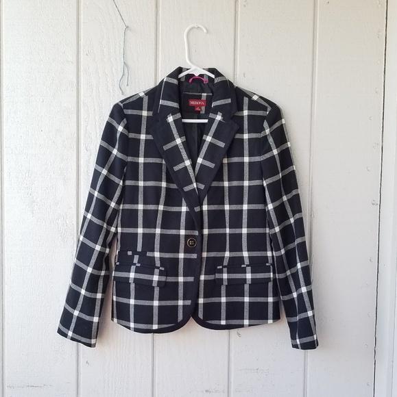 Jackets & Blazers - Merona Black and white plaid Blazer